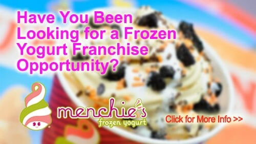 Menchies Frozen Yogurt franchise for sale business opportunity