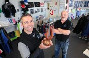 Darren Burborough & Richard Haigh SpeedySigns EmbroidMe Rotorua