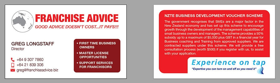Franchise Advice Bus Card